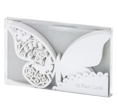 Buy Talking Tables Something In The Air Place Cards, Silver, Pack of 10 from our Wedding Stationery range at John Lewis & Partners. Butterfly Place, White Butterfly, Butterfly Design, Wedding Places, Wedding Place Cards, Wedding Stuff, Wedding Things, Wedding Stationery, Wedding Invitations