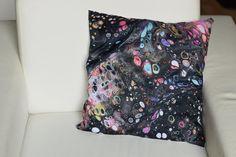 Decorative Art Cushion Abstract Art Pillow, Print of Fluid Painting Acrylic Pour, Home Decor, Artistic Pillow Galaxy Art Decor, Home Decor, Abstract Art, Cushions, Throw Pillows, Painting, Etsy, Vintage, Design