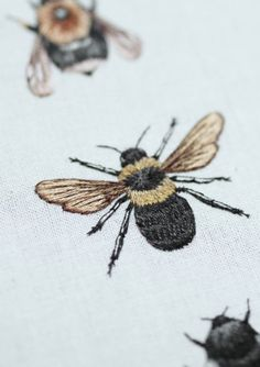 embroidered bees - Emillie Ferris