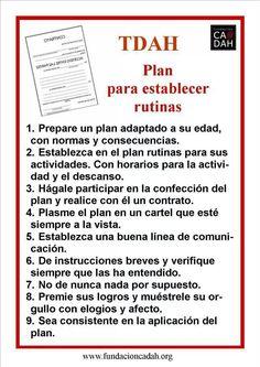 Plan para establecer rutinas
