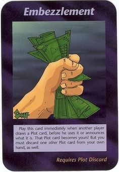 Illuminati Card Game - Embezzlement