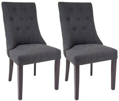 RV Astley Cara Mottled Black Dining Chair (Pair)