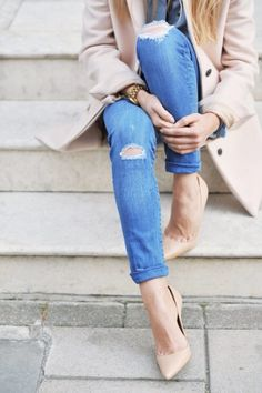 Nude + distressed