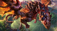 """League of Legends Dragon is out! César Rosolino and I worked together on this image for Riot Brazil, its been a while since I last painted a dragon,and it is good to be back at it!  The last one is the Baron, coming soon hopefully!  http://temporadadecaca.br.leagueoflegends.com/  Art Directors: Marco Aurélio """"Wendigo"""" and Vitor Ishimura (c) Riot Games"""