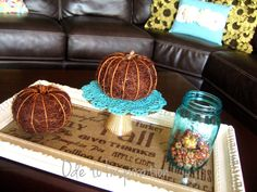 Fall Table Centerpiece Frame Tray