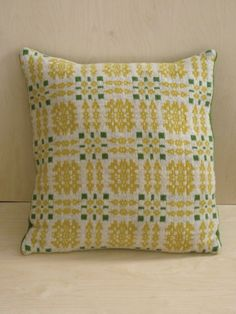 "16"" Lambswool tapestry design cushion,colour linen Sally Nencini"