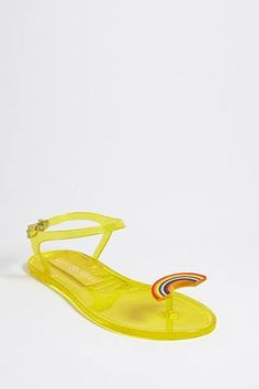 20078a2d905685 Forever 21 Katy Perry Rainbow Sandals Yellow