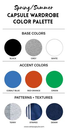 4 simple steps for creating a wardrobe color palette | www.vettacapsule.com