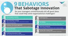 Infographic: 9 Ways to Sabotage Innovation