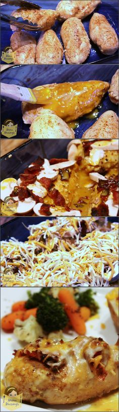 Alice Springs Chicken - my favorite recipe from Outback Steakhouse.  Ridiculously easy to make.  Can be made ahead and popped into the oven when you get home.  Step-by-step photos.