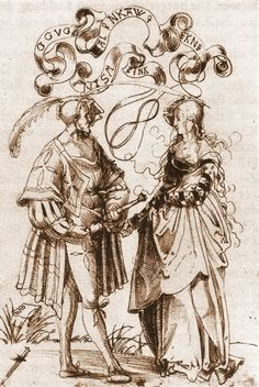 """""""Edelmann und Fräuölein im Gespräch"""" (swiss). 1510.  Totala antalet ärm indelad"""