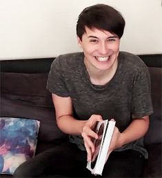 The smile and laugh is a thing only phil Can find in dan ❤