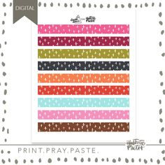 Alphas, Papers, & Washi Archives - Page 2 of 3 - Illustrated Faith How To Make Frames, 50 Words, Word Nerd, Faith Bible, Clear Stickers, Illustrated Faith, Scripture Art, Sticker Paper, Pattern Paper