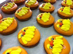 Lorax donuts....O'doodleDoo's Donuts, Suffolk, VA Suffolk Va, Halloween Donuts, Delicious Donuts, The Lorax, Hand Designs, 2nd Birthday, Cookies, Coffee, Desserts