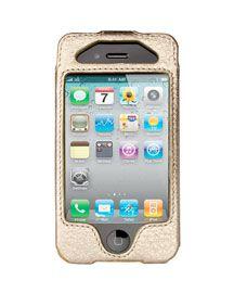 V0PZZ MICHAEL Michael Kors Signature iPhone Case, Gold