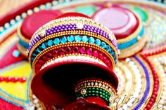 Pooja Thali-Decorative Henna Mehndi Peacock Design by Nirman
