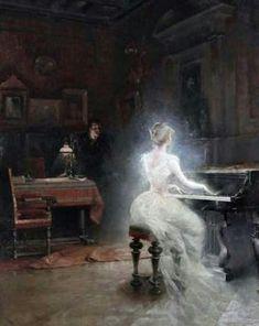 Vintage painting by George Roux, Spirit 1885 Renaissance Kunst, Illustration Art, Illustrations, Classical Art, French Artists, Fine Art, Pretty Art, Aesthetic Art, Oeuvre D'art