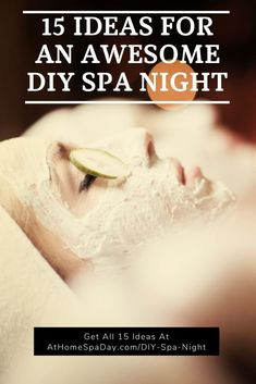 This is an easy, relaxing DIY spa night routine including homemade spa treatments, spa bath, beauty recipes, remedies and spa night snacks alone or with friends. Spa Day At Home, Home Spa, Diy Spa, Vitamin E, Homemade Spa Treatments, Aloe Vera, Anti Aging, Salt Scrubs, Spa Kits