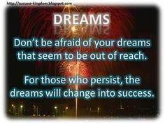 How true, key word is persistence
