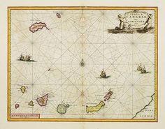 JANSSONIUS - Insulae Canariae Alias Fortunatae dictae.