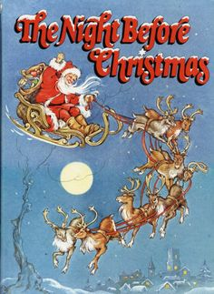 the night before christmas clement c moore derrydale books 1983 color illustrated by rene cloke classic christmas story - Night Before Christmas Book