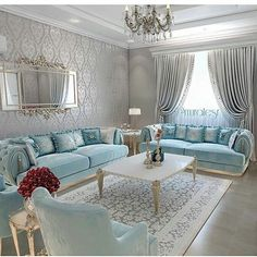 Stunning Ideas To Decorate Stylish Living Room Living Room Colors, Living Room Designs, Decor Room, Living Room Decor, Home Decor, Muebles Shabby Chic, Luxury Living, House Design, Interior Design
