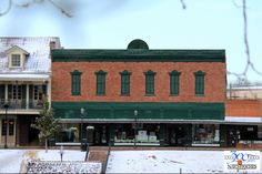 Kaffie Frederick General Mercantile, the oldest general store in Louisiana, is closed on snow day. Beautiful sight on the hill in front of the store.