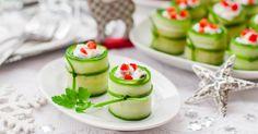 Recette de Roulés de concombre apéritifs à la ricotta pour les fêtes. Facile et rapide à réaliser, goûteuse et diététique.