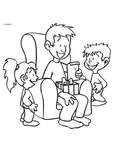 Coloring Books, Coloring Pages, Fathers Day Images, Mamas And Papas, Colorful Pictures, Zentangle, Projects To Try, Dads, Comics