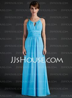 Mother of the Bride Dresses - $124.99 - A-Line/Princess Scoop Neck Floor-Length Chiffon Mother of the Bride Dress With Ruffle (008015636) http://jjshouse.com/A-Line-Princess-Scoop-Neck-Floor-Length-Chiffon-Mother-Of-The-Bride-Dress-With-Ruffle-008015636-g15636