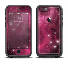 The Glowing Pink Nebula Apple iPhone 6/6s Plus LifeProof Fre Case Skin Set from DesignSkinz