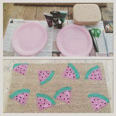 Handmade carpet with watermelon