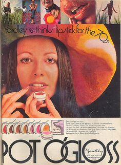 .Yardley pot o' gloss....Only item of makeup I wore back........all you needed..