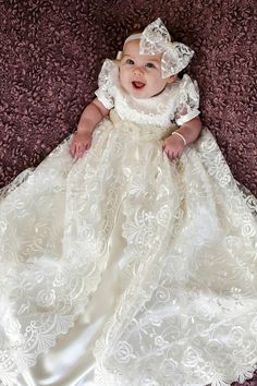 If you desire the best for your dear one, then look no further. You have come to the right place and we are glad that you have done your research well. Please do checkout our customer feedback reviews. GOWN DESCRIPTION: This exquisite gown is made with a beautiful off-white lace overlay and satin underlay. - Christening Gown for baby girls - Off White Lace Overlay and Satin Underlay - Premium Lace and Satin Fabric with Satin Edging - Lace Puff Sleeves - Full Soft Cotton Lining - Button…