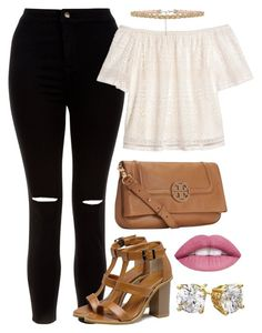 """""""Untitled #116"""" by dyaelxo on Polyvore featuring New Look, H&M, WithChic and Tory Burch"""