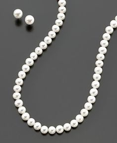 Classic Pearls.  I'd love to get real pearls for some big occasion, like graduation or Jacob's wedding or our 25th wedding anniversary.