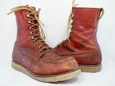 Red Wing Shoes Leather Narrow (C, B) Cushioned Boots for Men Red Wing Boots, Irish Setter, Cool Boots, Wedge Boots, Leather Shoes, Men's Shoes, Combat Boots, Footwear, Mens Fashion