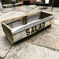 Salad planter made from old fencing Fencing, Inventions, Salad, Home Decor, Picket Fences, Decoration Home, Room Decor, Salads, Interior Design