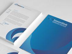 InsureRisk Branding process in conceptualizing InsureRisk identity design which include, Logo, business card, letterhead, folder and envelope design. Corporate Identity, Corporate Design, Identity Design, Brand Identity, Letterhead Design Inspiration, Graphic Design Inspiration, Design Ideas, Brand Book, Brand It