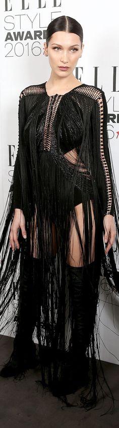 Bella Hadid veste Julien Macdonald - ELLE UK Style Awards 2016