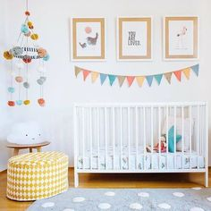 Our Pom Pom Mobile featured in the latest project from Baby Bottega transforming. Our Pom Pom Mobi Bright Nursery, Rainbow Nursery Decor, Whimsical Nursery, Pastel Nursery, Yellow Nursery, Baby Nursery Decor, Nursery Neutral, Nursery Themes, Nursery Room