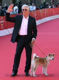 Richard and his co star- Hachi walk the red carpet Japanese Akita, Japanese Dogs, A Dog's Tale, Celebrity Dogs, Hachiko, Sad Movies, Akita Dog, Loyal Dogs, Dog Stories