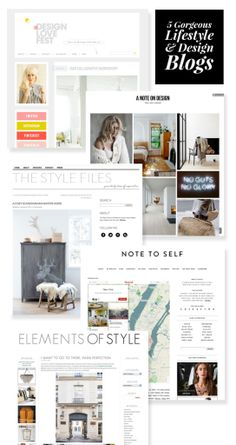 5 More of the Best Lifestyle Blogs - Beautiful blog designs
