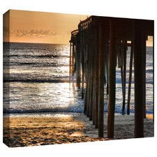 'Fishing Pier' by Steven Ainsworth Gallery Wrapped on Canvas
