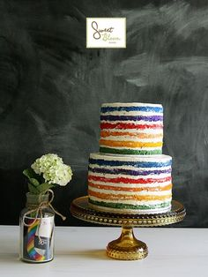 Rainbow tier cake from Sweet Bloom