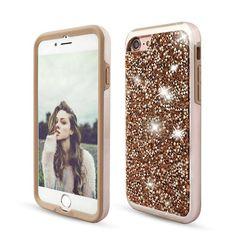 Case Shockproof Luxury Diamond Glitter Bling Dual Layer Rubber Shine Phone Case