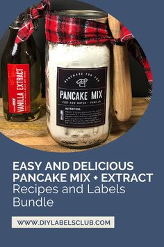 Do you and your kids love pancakes? Do you love DIYing recipes? Sibyl Smith of DIY Labels Club is sharing with you her family's favorite pancake mix recipe and bundling it with the best extract labels to help keep your kitchen organized. Grab your bundle in the Etsy shop today and be ready for breakfast tomorrow! Summer Diy, Summer Crafts, Diy Gifts For Mothers, Tasty Pancakes, Diy Holiday Gifts, Diy Videos, Gift Cards, Bath And Body, Printable