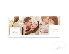Wedding Photography Facebook Cover Rose Collage / Photographer Photo Branding Kit / Blog Website Header / Gold Social Media
