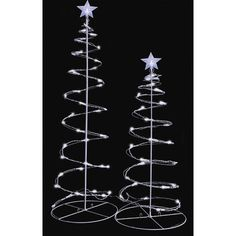5' Multi-Color LED Lighted Outdoor Spiral Christmas Tree Yard Art ...
