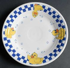 Luncheon Plate in the Fiesta Rubber Ducky pattern by Homer Laughlin Co